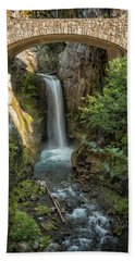 Beach Towel featuring the photograph Christine Falls by Belinda Greb