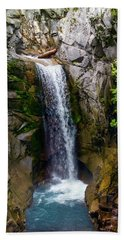 Christine Falls Mt Rainier Beach Towel
