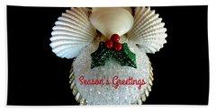 Christmas Angel Greeting Beach Towel