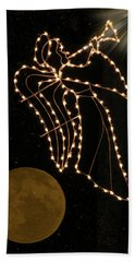Beach Towel featuring the photograph Christmas Angel by Rosalie Scanlon