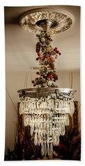 Christmas Antique Chandelier Beach Towel