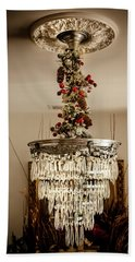 Christmas Antique Chandelier Beach Sheet