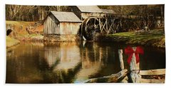 Beach Towel featuring the photograph Christmas At The Mill by Darren Fisher