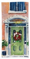 Christmas At The Rectory Beach Towel