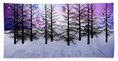 Christmas Bare Trees Beach Sheet