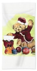 Christmas Bear Beach Sheet
