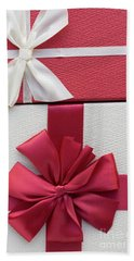 Christmas Boxes Beach Towel