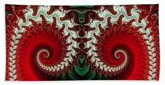 Christmas Swirls Beach Towel