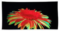 Christmas Daisy Beach Towel