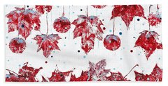 Christmas Decorations Of Nature Beach Towel