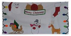 Christmas Dreams Beach Towel