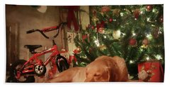 Beach Towel featuring the photograph Christmas Eve by Lori Deiter