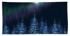 Beach Towel featuring the painting Christmas Eve by Veronica Minozzi