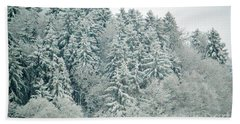 Beach Towel featuring the photograph Christmas Forest - Winter In Switzerland by Susanne Van Hulst