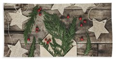 Beach Towel featuring the photograph Christmas Greens by Kim Hojnacki
