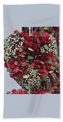 Beach Towel featuring the photograph Christmas Heart by Linda Prewer