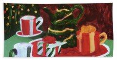Christmas Holiday Beach Towel by Donald J Ryker III