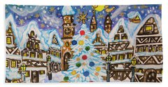 Christmas In Europe Beach Sheet by Irina Afonskaya