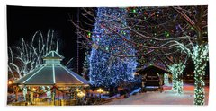 Beach Towel featuring the photograph Christmas In Leavenworth by Dan Mihai