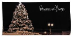Beach Towel featuring the photograph Christmas In Oswego by Everet Regal