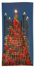 Beach Towel featuring the photograph Christmas In Pittsburgh 2016  by Emmanuel Panagiotakis