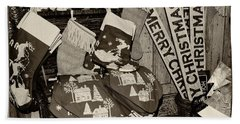 Christmas In The 1930's Beach Towel