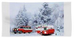 Christmas In The Fifties Beach Sheet