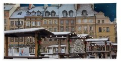 Beach Towel featuring the photograph Christmas In Warsaw by Juli Scalzi