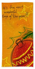 Christmas Is Coming  Beach Towel