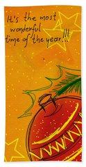Christmas Is Coming  Beach Sheet