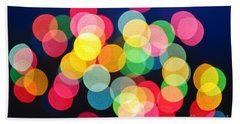 Christmas Lights Abstract Beach Sheet
