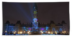 Beach Towel featuring the photograph Christmas Lights Across Canada.. by Nina Stavlund