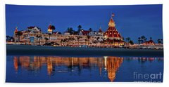 Christmas Lights At The Hotel Del Coronado Beach Towel