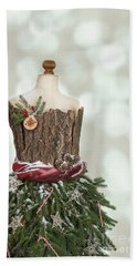 Christmas Mannequin Beach Towel