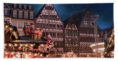 Beach Towel featuring the photograph Christmas Market by Juli Scalzi