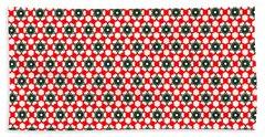 Christmas Paper Pattern Beach Sheet