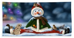 Christmas Party Beach Towel by Veronica Minozzi