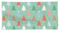 Christmas Pillow Beach Towel