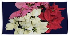 Christmas Pointsettias Beach Towel