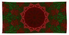 Christmas Quilt Beach Towel