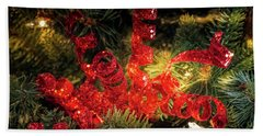 Christmas Red Beach Towel
