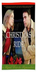 Christmas Ride Poster 16 By Karen E. Francis Beach Towel
