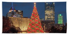 Beach Sheet featuring the photograph Christmas  Season In Pittsburgh  by Emmanuel Panagiotakis