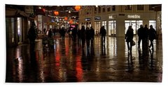 Beach Towel featuring the photograph Christmas Shopping by Inge Riis McDonald