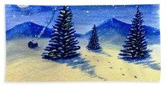 Christmas Snow Beach Sheet