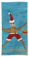 Christmas Starfish Beach Towel