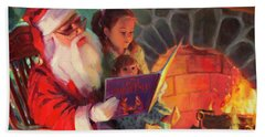 Beach Towel featuring the painting Christmas Story by Steve Henderson