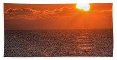 Christmas Sunrise On The Atlantic Ocean Beach Towel by Sumoflam Photography