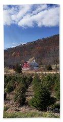 Christmas Tree Shopping Beach Sheet by Nicki McManus