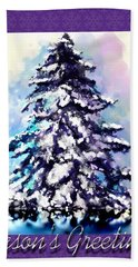 Christmas Tree Beach Towel by Susan Kinney